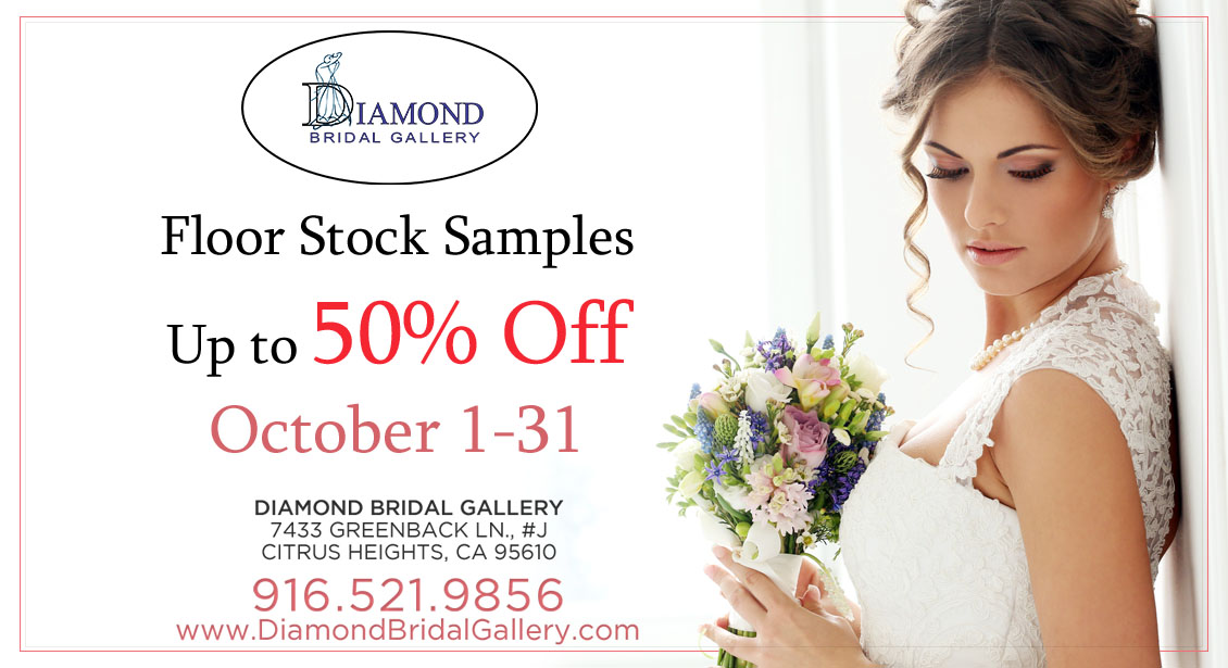 Floor Sample Sale at Diamond Bridal