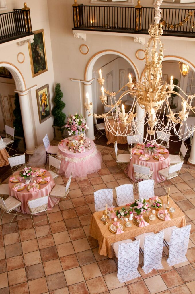 Pretty in Pink Bridal Photo Shoot at Grand Island Mansion