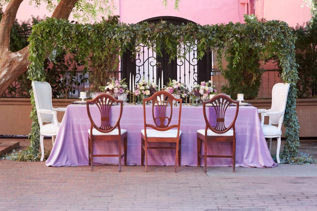 Wedding Decor at Courtyard D'Oro