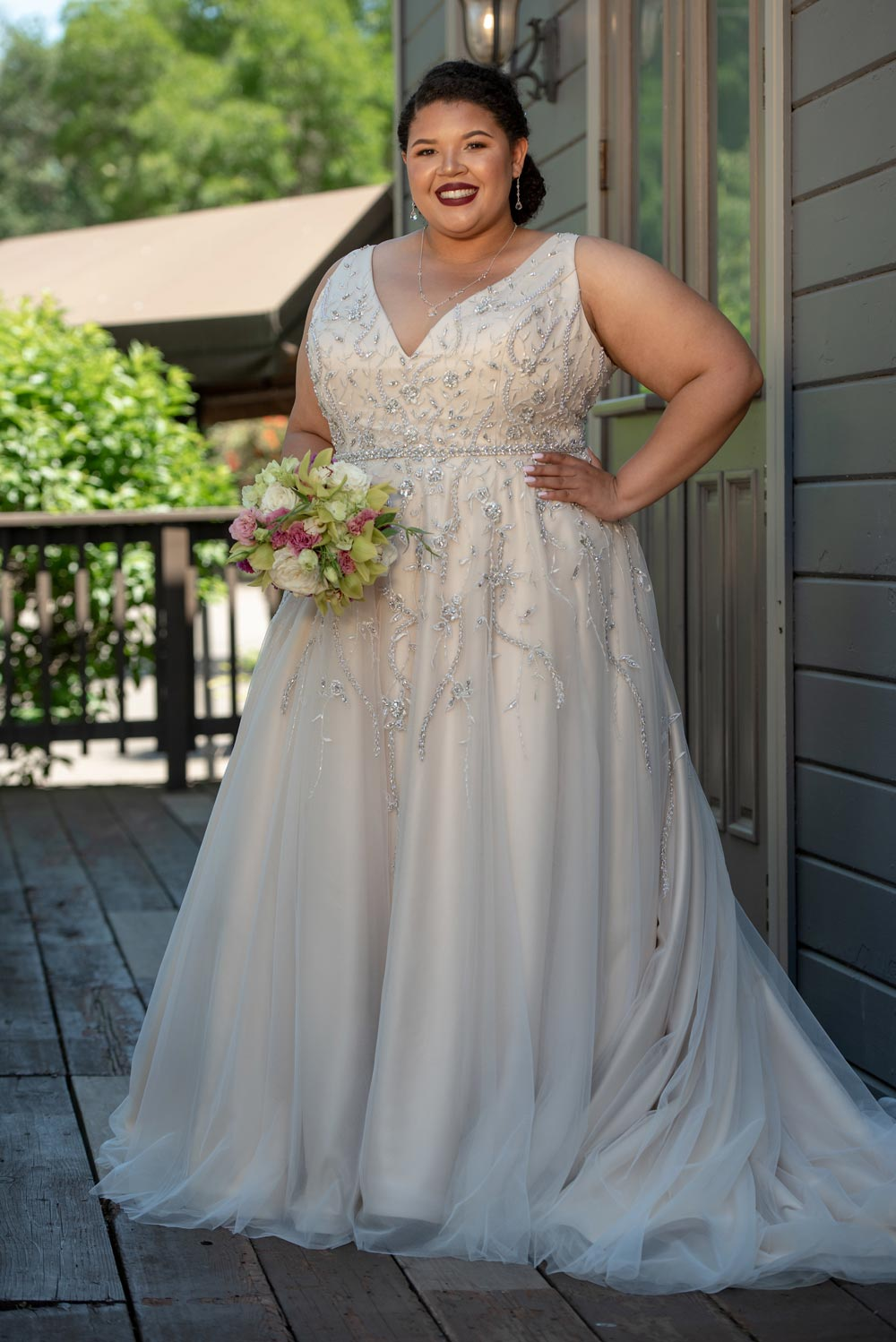 182d67207 Lace, exquisite beading, mix and match creations, trending shades are just  some of the gowns this Sacramento bridal store carries.