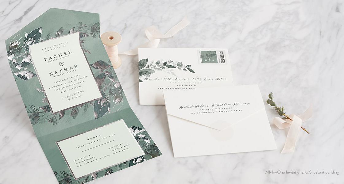 All In One Wedding Invitations Sacbride